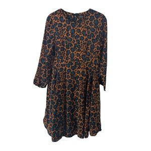 Top Shop Maternity Long Sleeve Leopard Dress Sz 4